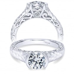 Taryn 14k White Gold Round Solitaire Engagement Ring TE9058W44JJ