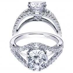 Taryn 14k White Gold Round Split Shank Engagement Ring TE6271W44JJ
