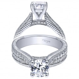 Taryn 14k White Gold Round Straight Engagement Ring TE10248W44JJ