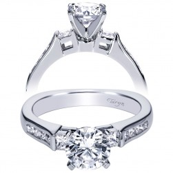Taryn 14k White Gold Round Straight Engagement Ring TE3995W44JJ