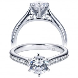 Taryn 14k White Gold Round Straight Engagement Ring TE6674W44JJ