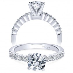 Taryn 14k White Gold Round Straight Engagement Ring TE6874W44JJ