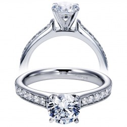 Taryn 14k White Gold Round Straight Engagement Ring TE6944W44JJ