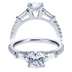 Taryn 14k White Gold Round Straight Engagement Ring TE7514W44JJ