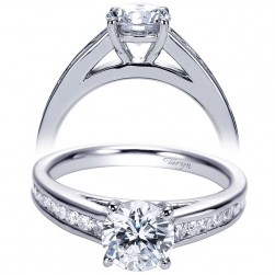 Taryn 14k White Gold Round Straight Engagement Ring TE8193W44JJ