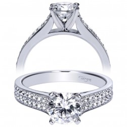 Taryn 14k White Gold Round Straight Engagement Ring TE8948W44JJ