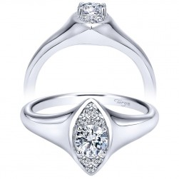 Taryn 14k White Gold Round Straight Engagement Ring TE911941R0W44JJ