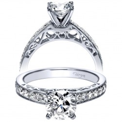 Taryn 14k White Gold Round Straight Engagement Ring TE94175W44JJ