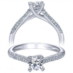 Taryn 14k White Gold Round Straight Engagement Ring TE94196W44JJ