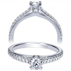 Taryn 14k White Gold Round Straight Engagement Ring TE98505W44JJ