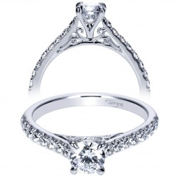 Taryn 14k White Gold Round Straight Engagement Ring TE98539W44JJ
