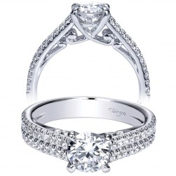 Taryn 14k White Gold Round Straight Engagement Ring TE98560W44JJ