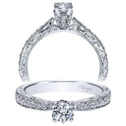 Taryn 14k White Gold Round Straight Engagement Ring TE98670W44JJ
