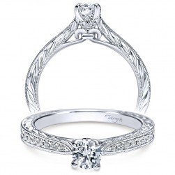 Taryn 14k White Gold Round Straight Engagement Ring TE98705W44JJ
