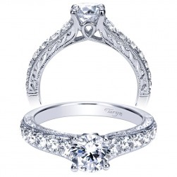 Taryn 14k White Gold Round Straight Engagement Ring TE98717W44JJ