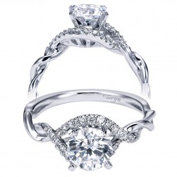Taryn 14k White Gold Round Twisted Engagement Ring TE6963W44JJ