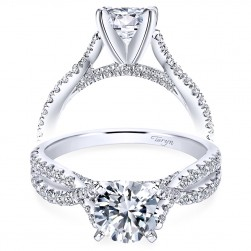 Taryn 14k White Gold Round Twisted Engagement Ring TE7544W44JJ