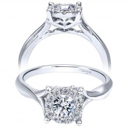 Taryn 14k White Gold Round Twisted Engagement Ring TE910942W44JJ