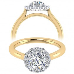 Taryn 14k Yellow Gold Round Halo Engagement Ring TE7498M44JJ