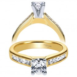 Taryn 14k Yellow Gold Round Straight Engagement Ring TE3965M44JJ
