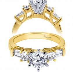 Taryn 14k Yellow/White Gold Round Straight Engagement Ring TE3693M44JJ