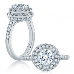 A.JAFFE Platinum Classic Engagement Ring ME2151