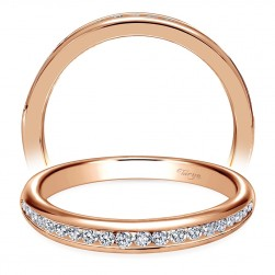 Taryn 14 Karat Rose Gold Curved Wedding Band TW6664K44JJ