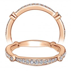 Taryn 14 Karat Rose Gold Curved Wedding Band TW6711K44JJ