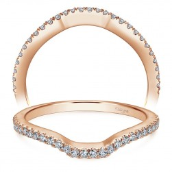 Taryn 14 Karat Rose Gold Curved Wedding Band TW7740K44JJ