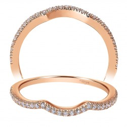 Taryn 14 Karat Rose Gold Curved Wedding Band TW7806K44JJ