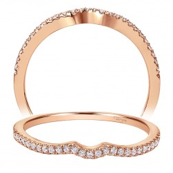 Taryn 14 Karat Rose Gold Curved Wedding Band TW8129K44JJ