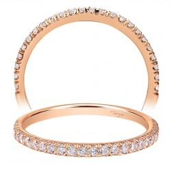 Taryn 14 Karat Rose Gold Straight Wedding Band TW7252K44JJ