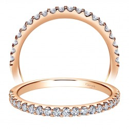 Taryn 14 Karat Rose Gold Straight Wedding Band TW7480K44JJ