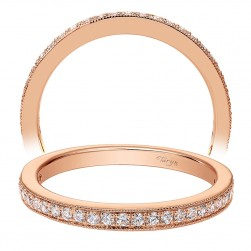 Taryn 14 Karat Rose Gold Straight Wedding Band TW7527K44JJ