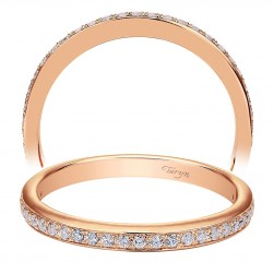 Taryn 14 Karat Rose Gold Straight Wedding Band TW7537K44JJ