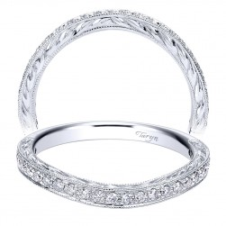 Taryn 14 Karat White Gold Curved Wedding Band TW10007W44JJ
