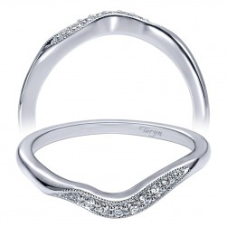 Taryn 14 Karat White Gold Curved Wedding Band TW10064W44JJ