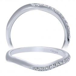 Taryn 14 Karat White Gold Curved Wedding Band TW10065W44JJ