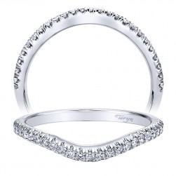 Taryn 14 Karat White Gold Curved Wedding Band TW10099W44JJ