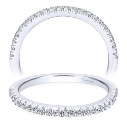 Taryn 14 Karat White Gold Curved Wedding Band TW10103W44JJ