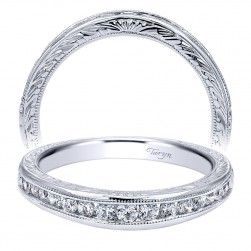 Taryn 14 Karat White Gold Curved Wedding Band TW10118W44JJ