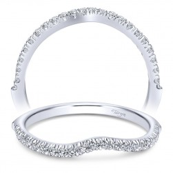 Taryn 14 Karat White Gold Curved Wedding Band TW10128W44JJ