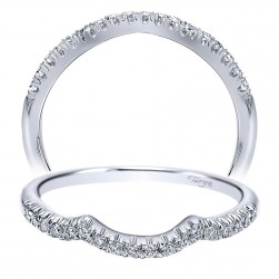 Taryn 14 Karat White Gold Curved Wedding Band TW10158W44JJ