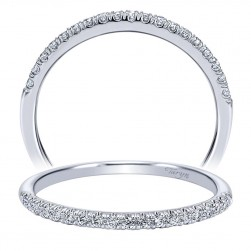 Taryn 14 Karat White Gold Curved Wedding Band TW10160W44JJ