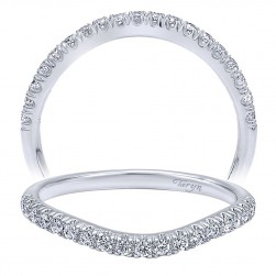 Taryn 14 Karat White Gold Curved Wedding Band TW10168W44JJ
