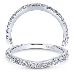 Taryn 14 Karat White Gold Curved Wedding Band TW10218W44JJ
