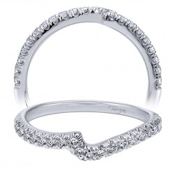 Taryn 14 Karat White Gold Curved Wedding Band TW10295W44JJ