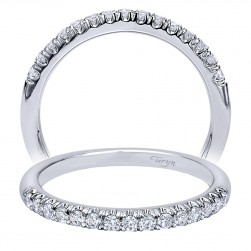 Taryn 14 Karat White Gold Curved Wedding Band TW10300W44JJ
