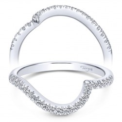 Taryn 14 Karat White Gold Curved Wedding Band TW10304W44JJ