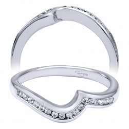 Taryn 14 Karat White Gold Curved Wedding Band TW10436W44JJ